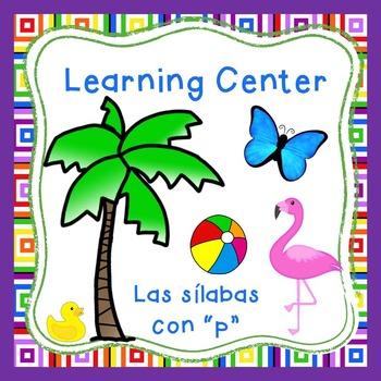 "Las silabas con ""P""(pa,pe,pi) Spanish reading center Perfect for Dual Language"
