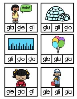 Las sílabas trabadas-Gl