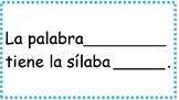 Las silabas y marco de oración