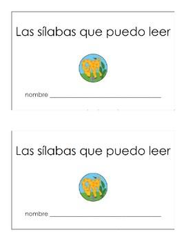 Las sílabas que puedo leer - sticker book