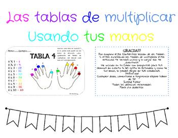 Las Tablas De Multiplicar By Ingrid Keller Teachers Pay Teachers