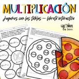 Las tablas de multiplicar para libreta interactiva