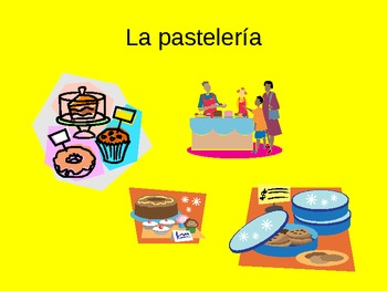 Las tiendas PowerPoint Spanish Store and City Places Vocabulary PPT