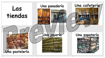 Las tiendas - learning the various types of shop in Spanish