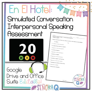 Las vacaciones: Simulated Conversation Speaking Test (Script & Student Outline)