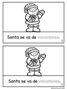 Las vacaciones de Santa Christmas Reader & Vocab pages ~ para la Navidad