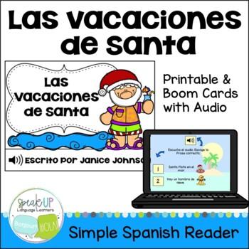 Las vacaciones de Santa Christmas Reader & Vocab pages ~ p