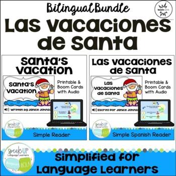 Las vacaciones de Santa ~ Santa's Vacation Readers {Bilingual Bundle}