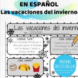 Las vacaciones del invierno Spanish Reporting Sheet