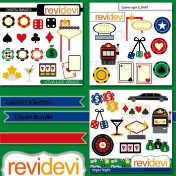 Las vegas clip art - Casino Collection Bundle (3 packs) -