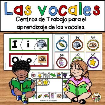 Las vocales-Centros de trabajo para  el aprendizaje de  las vocales