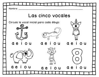 Las vocales - Actividades y Hojas de Tarea by Made for Teaching 1st