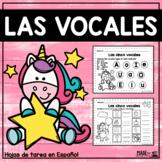 Las vocales - Actividades y Hojas de Tarea