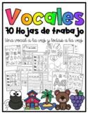 Las vocales- Hojas de trabajo