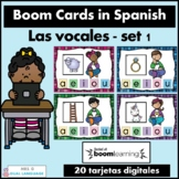 Las vocales Spanish Boom Cards Set 1