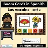 Las vocales Spanish Boom Cards Set 2