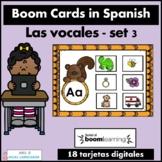 Las vocales Spanish Boom Cards Set 3
