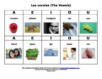Las vocales con fotos