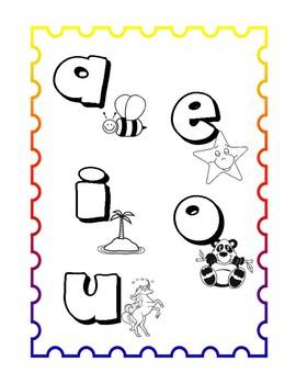 Las vocales para colorear by Gina M | Teachers Pay Teachers