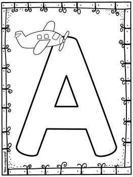 Las vocales (páginas de colorear) / Spanish vowels coloring pages