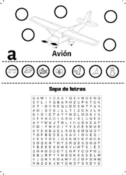 Las vocales y sopas de letras