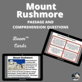 Mount Rushmore  Boom™ Cards passage and comprehension ques