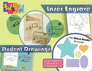 Laser Engrave Student Drawings Project Packet