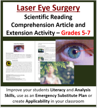 Laser Eye Surgery - Science Reading Article - Grades 5-7