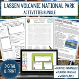 Lassen Volcanic National Park Graphic Organizer and Word Search Bundle