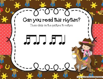 Lasso Some Rhythms! Interactive Rhythm Practice Game - Tika-ti