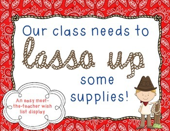 Wish List Western Themed: Lasso Up Supplies!