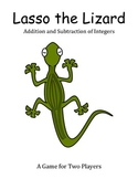 Lasso the Lizard - A 2-Player Game to Practice Adding and Subtracting Integers