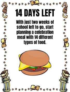 Last 15 Days of School Writing Prompt Countdown