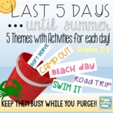 Last Week of School Activities 2nd Grade 3rd Grade End of Year Countdown