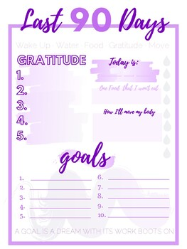 Last 90 Day Challenge Journal Printable - 5 to Thrive by Rachel Hollis