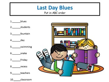 Last Day Blues - 39 pgs Common Core Actives