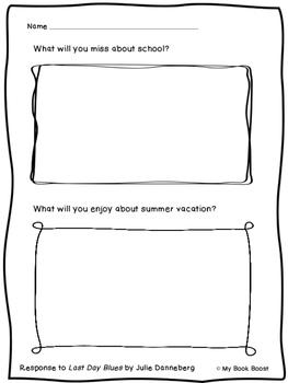 Last Day Blues Response Sheet