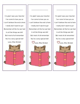Last Day Bookmarks: Cat Theme!