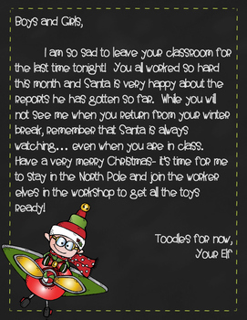 Last Day Elf Letter