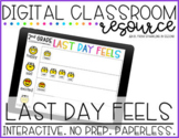 Last Day Feels Digital End of Year Activity