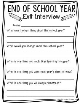 End Of Kindergarten Worksheets
