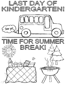 Last Day of Kindergarten - Coloring Page