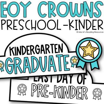 Last Day of Kindergarten Crowns