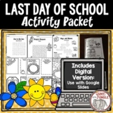 End of Year - Last Day of School Advice Booklet and Activities