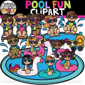 Pool Fun Clipart {Summer Clipart}