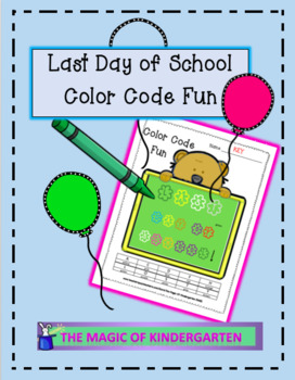 Last Day of School~ Color Code Fun