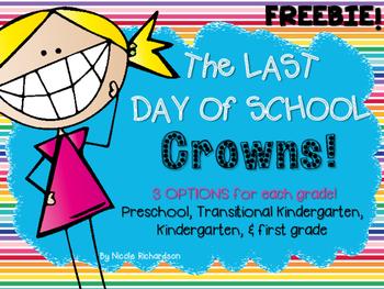 Last Day of School Crown~FREEBIE!