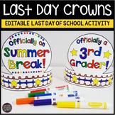 Last Day of School Activities   Last Day of School Crown C