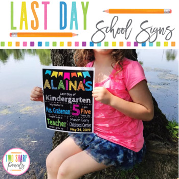 Last Day of School Editable Chalkboard Sign