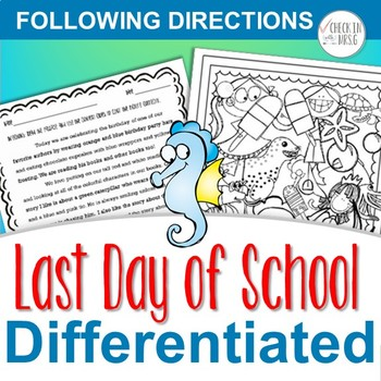Last Day of School Following Directions